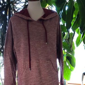 Soft Surroundings burgundy lazy day lounger robe